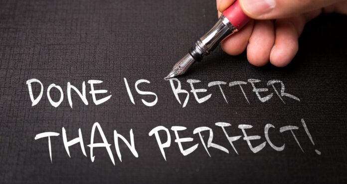 Header image for a post on how to let go of the need for perfection