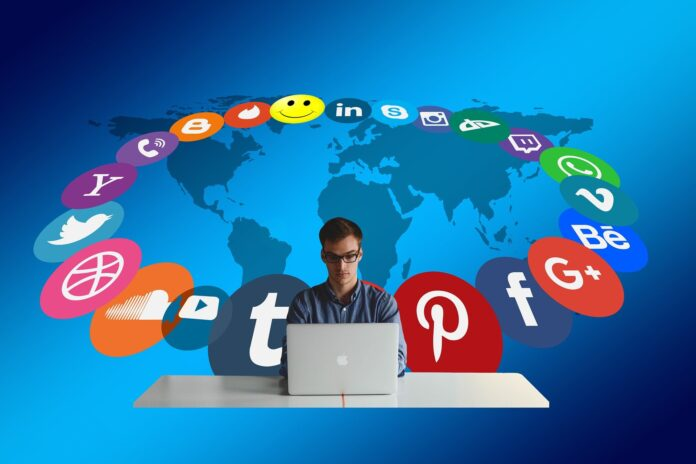 You can't please everyone with your writing. person surrounded by social media icons